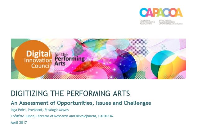 Digitizing the Performing Arts - cover page