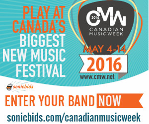 Canadian Music Week: Play at Canada's biggest new music festival, May 4-14, 2016