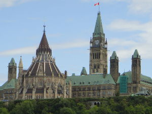Parliament of Canada. Photo by Hudation, under Creative Commons Attribution - Share Alike license.