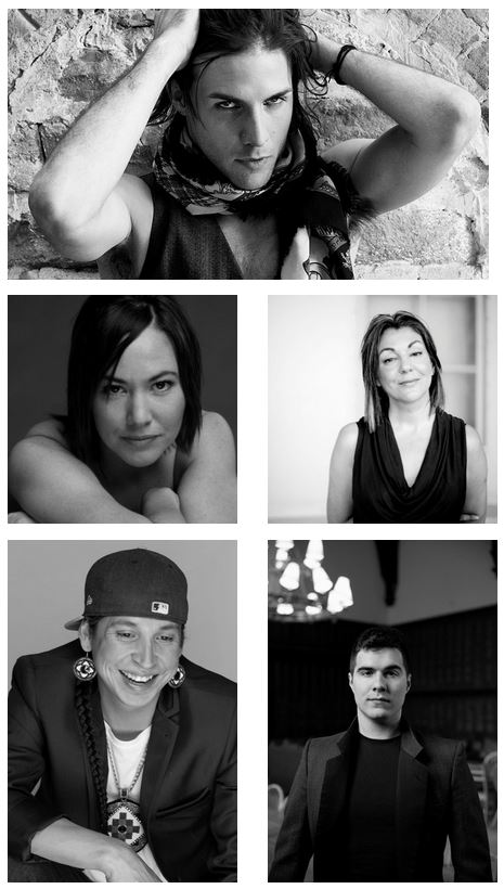 Brian Solomon, Bryden Gwis Kiwenzie, Christine Friday, Denise Bolduc and Jeremy Dutcher