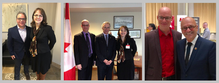 Photos of meeting with Francesco Sorbara, Sean Casey and René Cormier