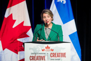 Mélanie Joly at the Creative Export Launch.