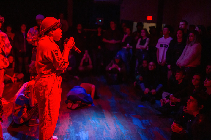 Launch of the 2019 PuSh Festival with Kimmortal and Immigrant Lessons. Photo credit: Sarah Race.