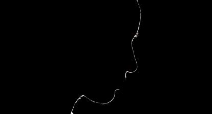 Silhouette d'un visage féminin